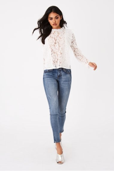 Merci White Lace Top