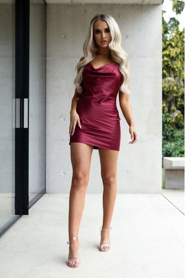 Cora Berry Satin Luxe Mini Dress