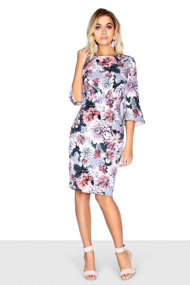 Floral Pleat Dress