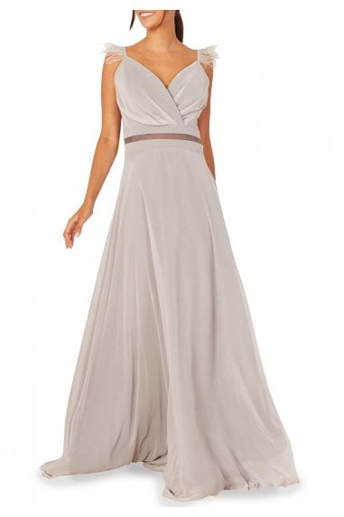 Loreena Long Chiffon Evening Gown