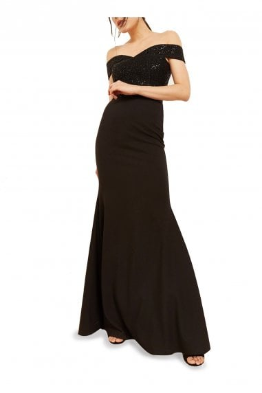 Kate Barchetta Neck Evening Gown