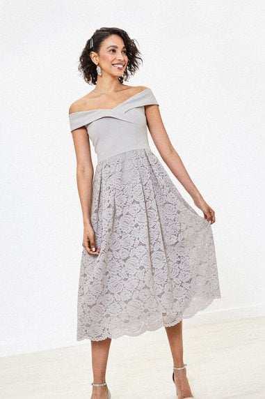 ISABELLA BARDOT TOP LACE SKIRT