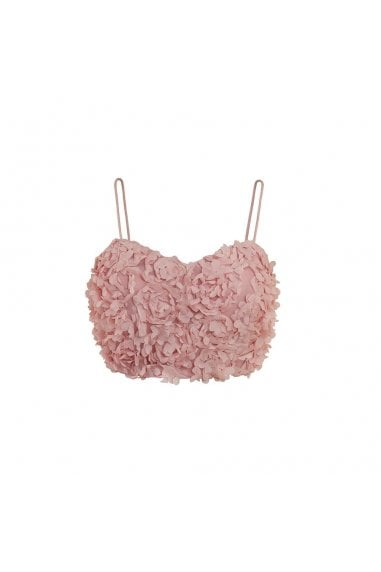Petal Cami Crop Top- Blush