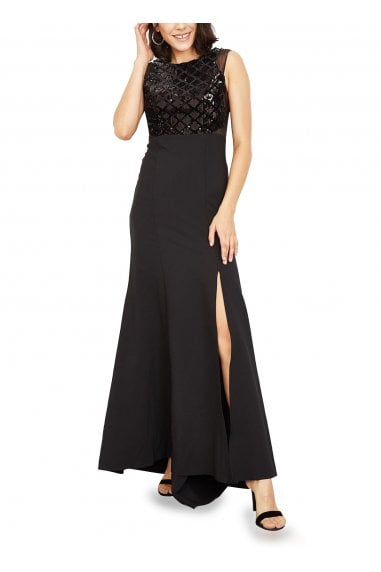 Jenny Sequinned Maxi Evening Gown