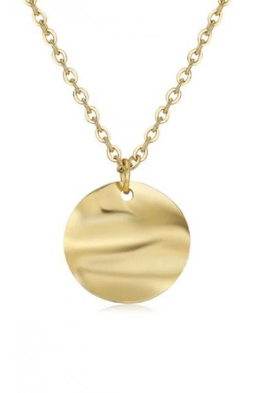 18k Gold Plated Circle Pendant Necklace