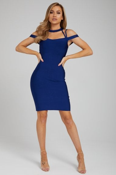 The 'Yolanda' Navy Bandage Dress