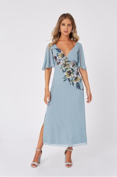 Tamra Floral-Print Midaxi Dress