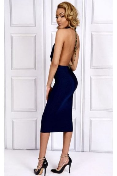 OUTLET SINGLE BEADED BACKLESS DRESS