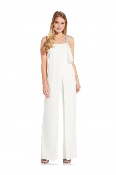 Crepe Jumpsuit In Ivory