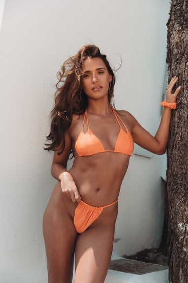 Vana Europe Francesca Citrus Orange 'V' Two Strap Bikini Top
