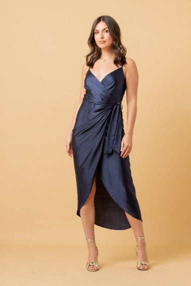 Tie Side Cami Midi Dress