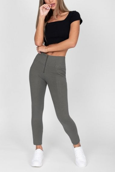 Olive High Waist Jegging