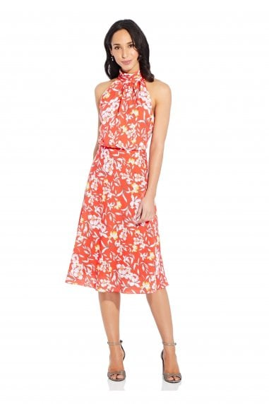 Tea Time Floral Bias Dress