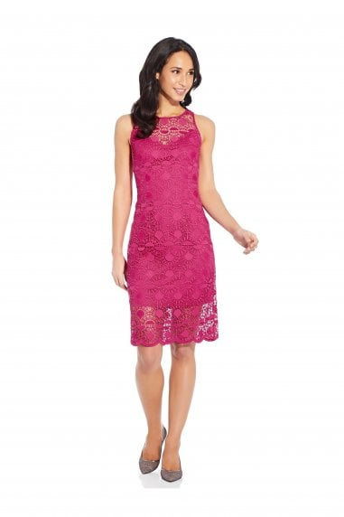 Sunrise Lace Illusion Sheath Dress