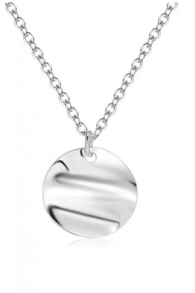 Layered Silver Bar & Circle Necklace