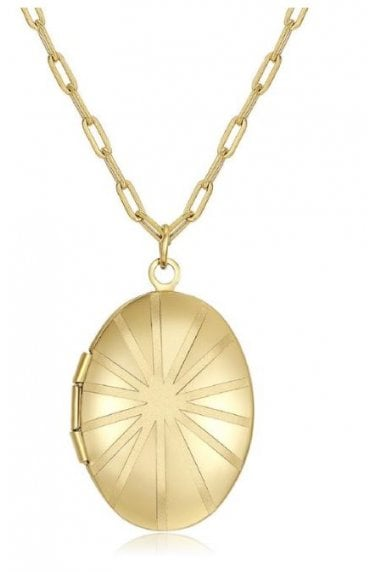 18k Gold Plated Locket Necklace