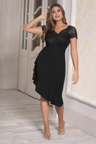 Sistaglam Loves Jessica Wright Lyndia Black Dress