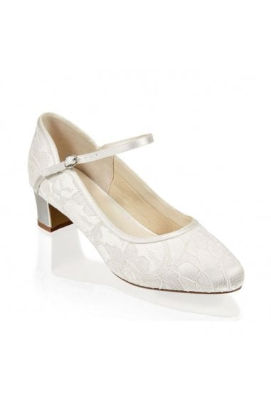 Lace 'Amiya' Wide Fit Two Part Low Heel Shoe