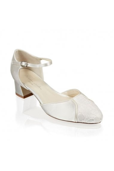 Lace and Satin 'Agatha' Wide Fit Two Part Shoe