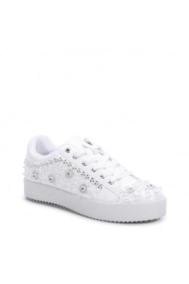 Zarina' Crystal Encrusted Trainers