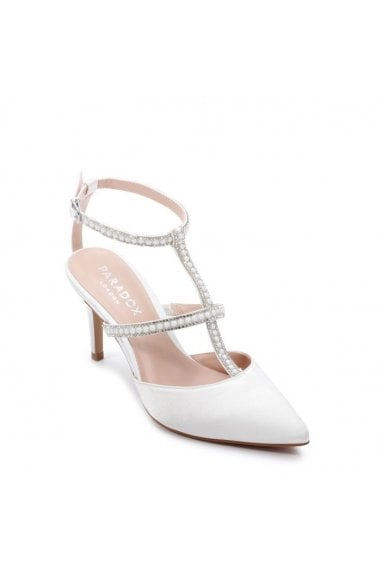 Satin 'Kimberley' High Heel Open Court Shoes