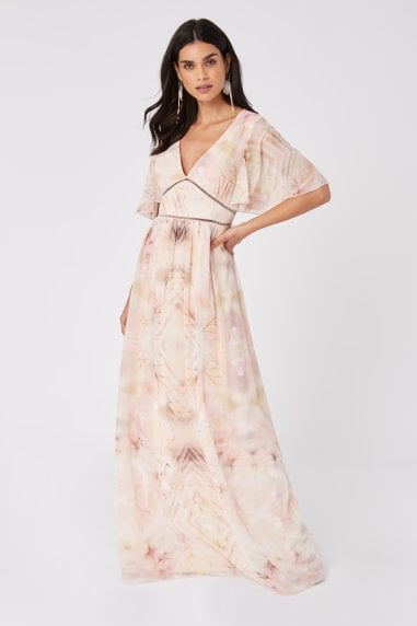 Faye Kaleidoscope-Print Maxi Dress