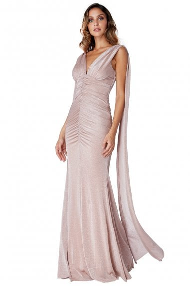 OUTLET Angel Wing Maxi Dress - Nude