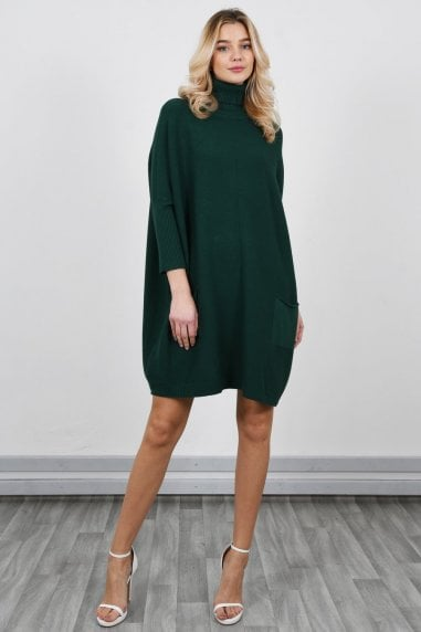 Oversized Jumper Dress with Roll Neck