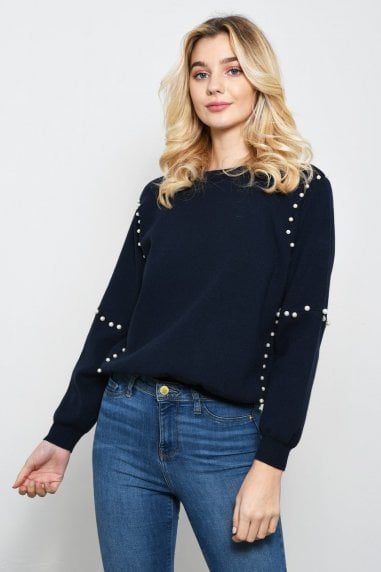 Oversized Jumper With Pearls