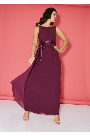 Bridesmaid Blackcurrant Maxi Dress