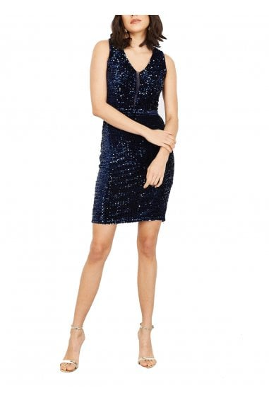 Mae Sequinned Bodycon Dress