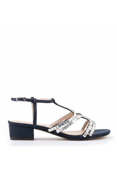 """Izzy"" Wide Fit Low Heel Sandal"
