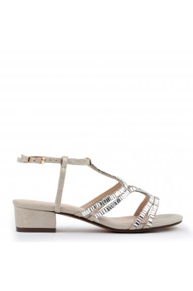 Izzy Wide Fit Low Heel Sandal