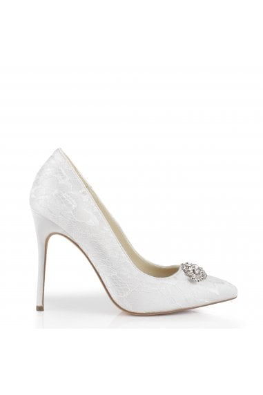 Lace 'Florida' High Heel Trim Detail Court