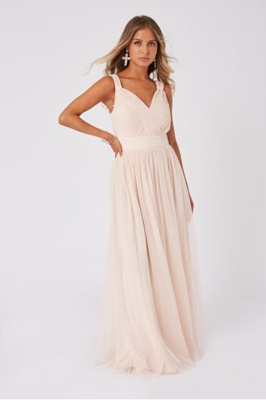 Bridesmaid Alexia Nude Ruched Bodice Maxi Dress