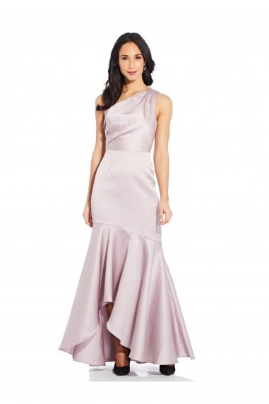 Mikado Long Gown In Marble