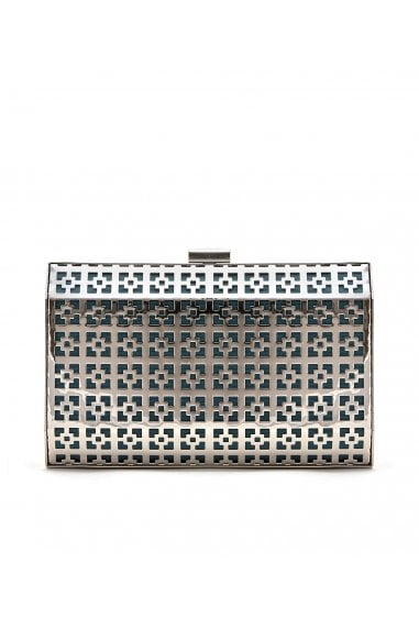 SAMIA GEOMETRIC METAL CLUTCH