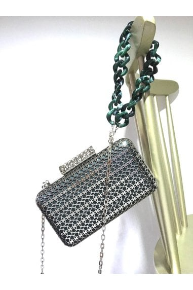 SKYE FILIGREE METAL CLUTCH