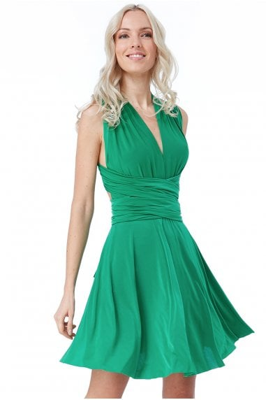 OUTLET Multiway Mini Dress - Emerald