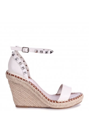 PROSECCO - White Espadrille Wedge With Studded Detail