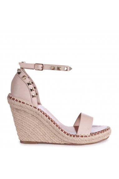 PROSECCO - Beige Espadrille Wedge With Studded Detail