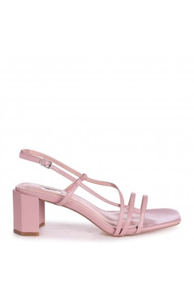 TOYKO - Dusky Pink Strappy Block Heeled Sandal