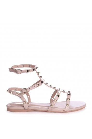 VIOLET - Taupe All Over Studded Gladiator Sandal