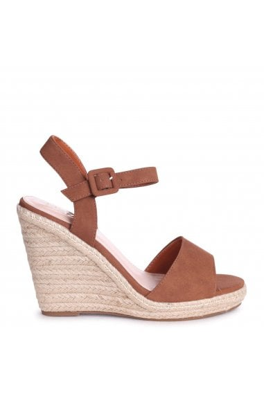 DORI - Cognac Nubuck Barely There Wedge