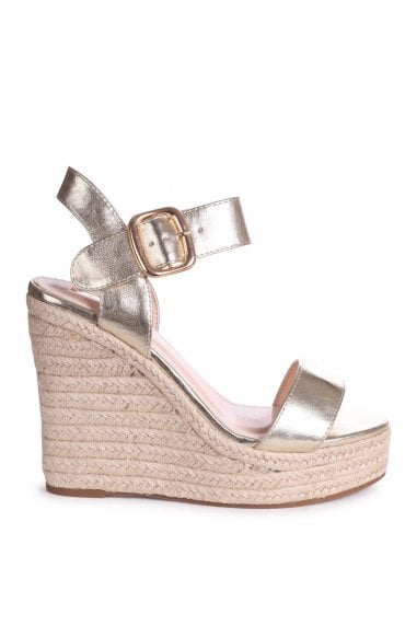 CUBA - Gold Metallic Rope Platform Wedge