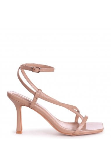 CARNABY - Mocha Nappa Strappy Square Toe Heel With Toe Post