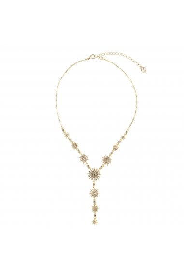 Gold, Plated, Celestial, Lariat, Necklace