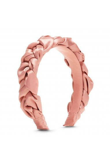 Pink, Satin, Braided, Headband