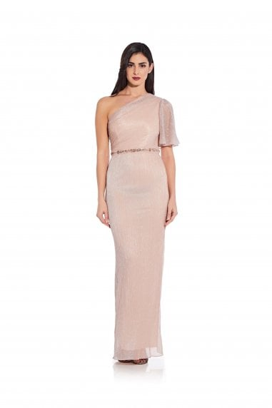 Glitter Knit Column Gown