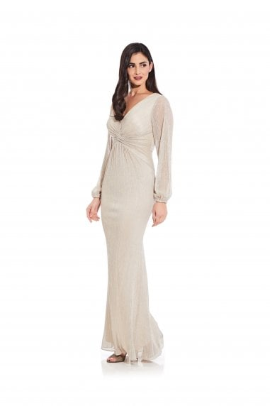 Glitter Knit Draped Gown